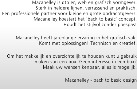 Macanelley is dtp'er, web en